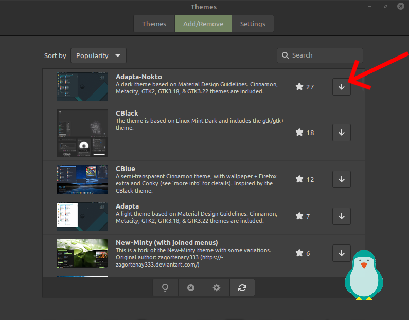 download theme in linux mint 20