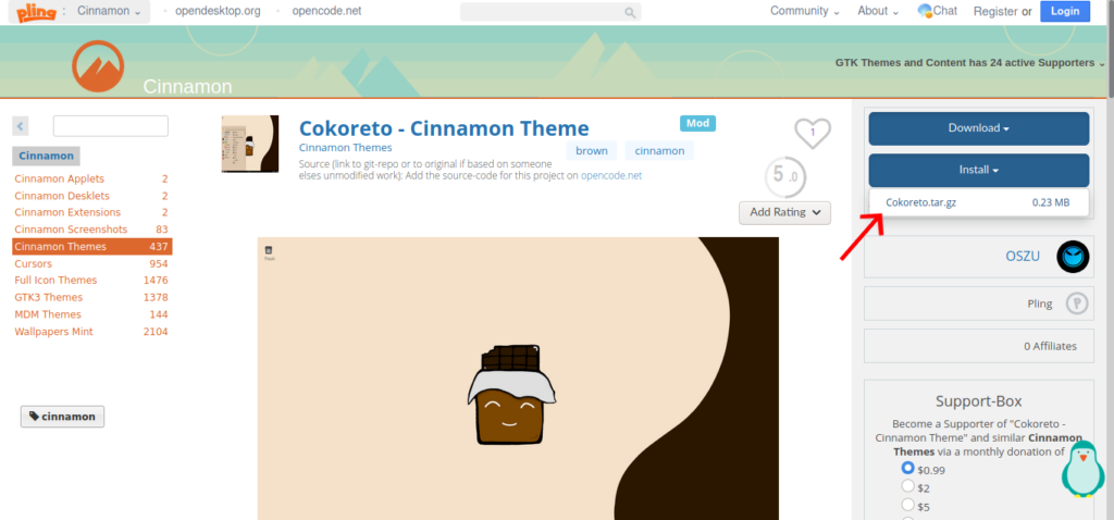 download a good theme of your choice for cinnamon