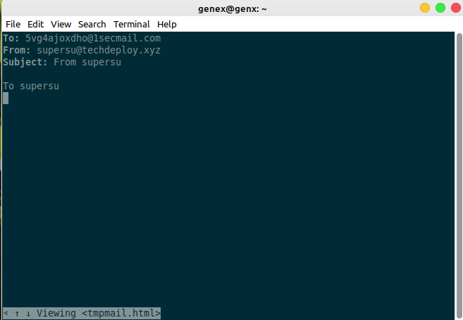 tempmail disposable mail for linux terminal