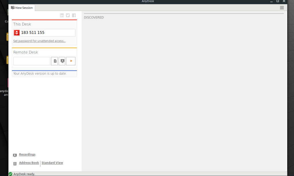 screen share with anydesk on linux
