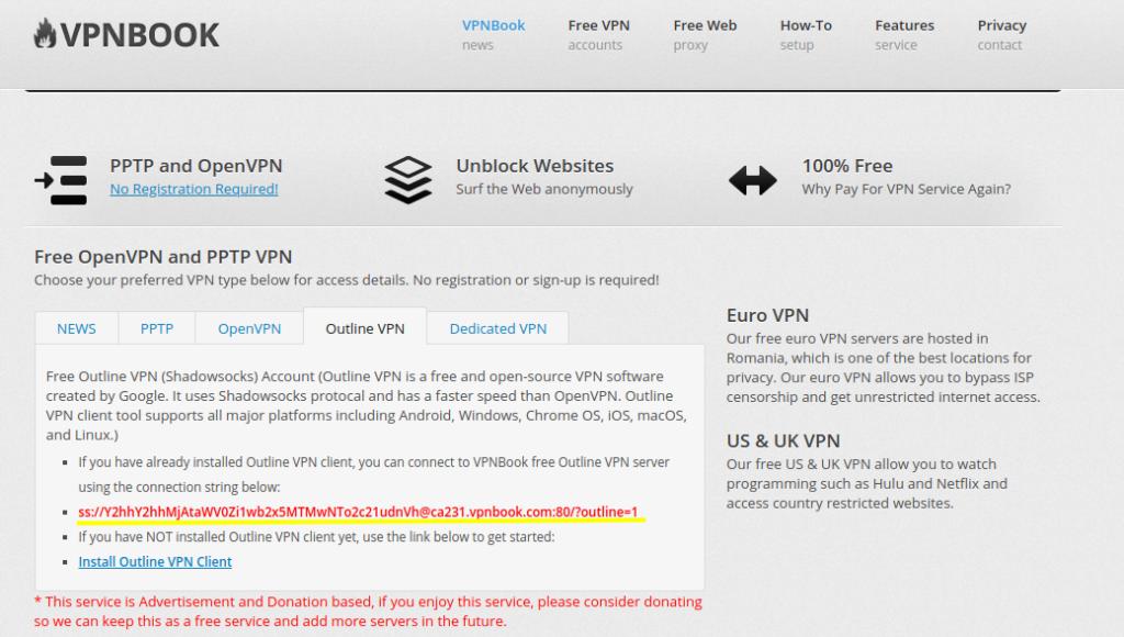 vpnbook outline vpn access key